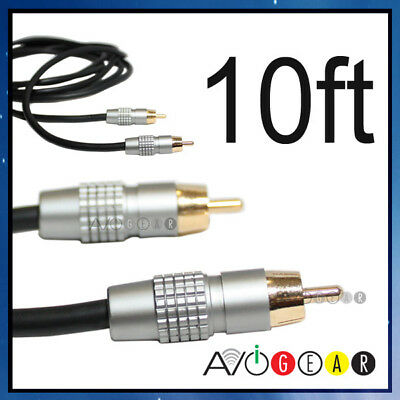 NEW 10' ft Digital Coaxial Subwoofer Audio Cable S/PDIF