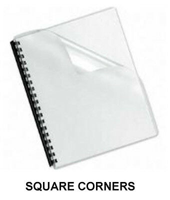 Clear Plastic Report Covers - 7 Mil. -  50 Sheets