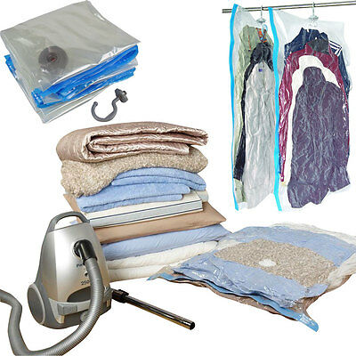 4 x SPACE BAG SUIT CARRIER HANGING VACUUM STORAGE BAG