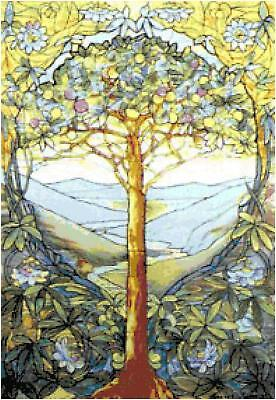 Louis Tiffany Tree of Life Counted Cross Stitch Pattern