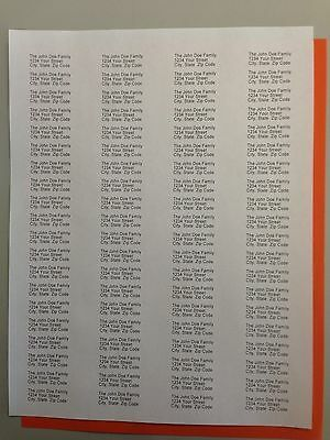 2000 - Printed / Personalized Return Address Labels - 1/2 x 1 3/4