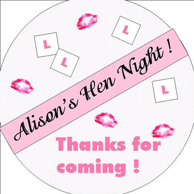 Hen Night Personalised Stickers - Party Bags - Favours