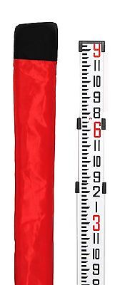 AdirPro Telescopic 9' Aluminum Contractor Grade Leveling Rod (Inches 8ths)