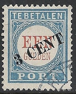 Netherlands 1906 NVPH Due 27fc Plate Error  CANC  VF