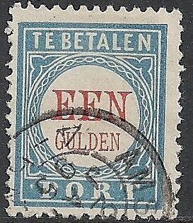 Netherlands 1881 NVPH Due 12fa Plate Error  CANC  VF
