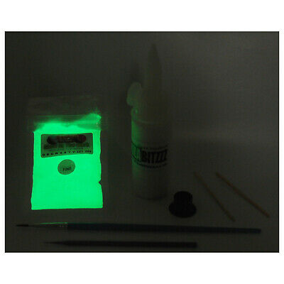 Glow In The Dark Watch Clock pigment powder paint kit Re-lume