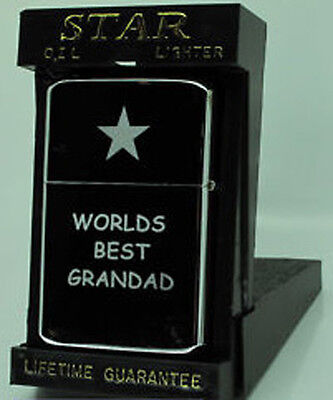 Engraved Petrol Lighter Grandad/Bestman/Usher/Brother/Dad Gift Comes In Tin Box