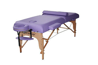 "77"" Long 30"" Wide 3"" Pad Purple Portable Massage Table"