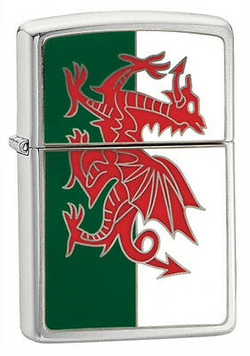 Personalised Zippo Welsh Wales Flag Lighter  Engraved Free