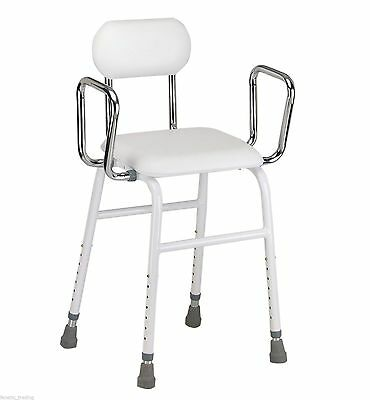 Perching stool / resting chair for kitchen ironing with removeable arms and back