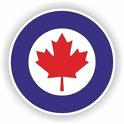 1x Canada RCAF Air force Roundel vinyl sticker decal