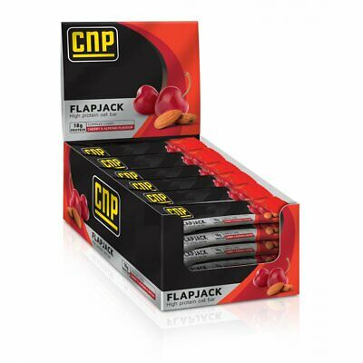 2 x CNP Pro Flapjack High Protein 24 x 75g Rolled Oats Bar CHERRY ALMOND