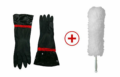 Haushaltshandschuhe Latexhandschuhe Lace + 1 Staubwedel