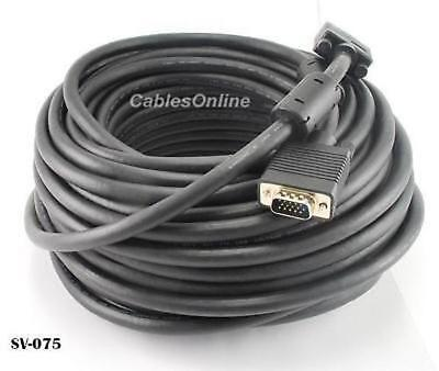SV-025P CMP HD15 Super VGA Male//Male In-Wall Rated Monitor Cable 25ft Plenum