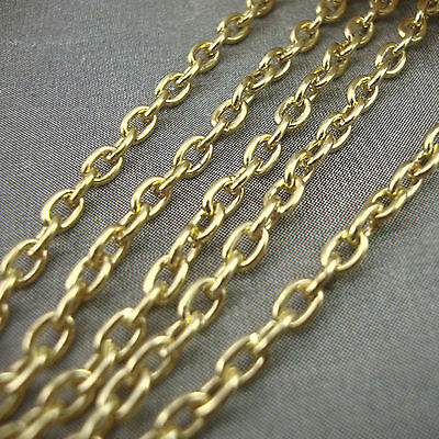 2 Metres Gold Plated Chain 4 x 3mm NICKEL FREE Necklace