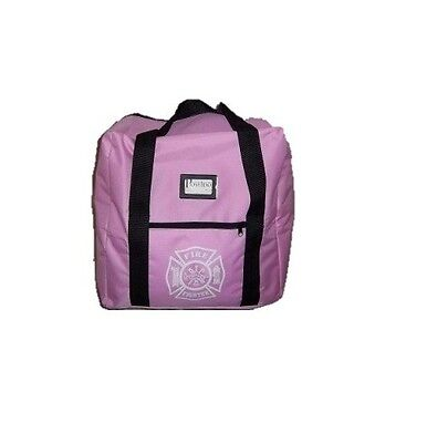 Pink Ladie's Firefighter Step-in Turnout Fire Gear Bag with Maltese Cross, NEW