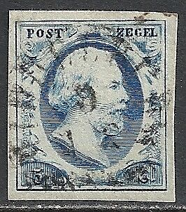 Netherlands 1852 NVPH 1 large margins  CANC  VF