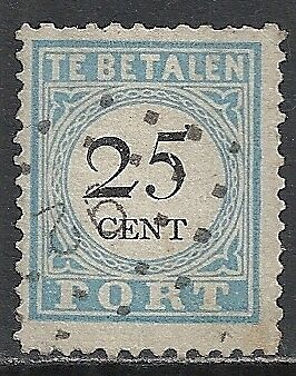 Netherlands 1881 NVPH Due 11CIV  CANC  F/VF