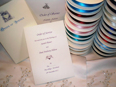50 Personalised Wedding Order Of Service COVERS A5