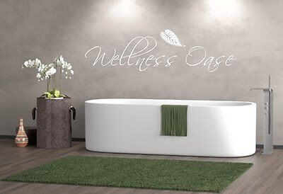 Wandtattoo Badezimmer Wellnessoase Wellness Oase Sticker , Schlafzimmer,