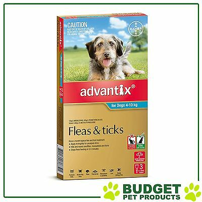 Advantix For Medium Dogs 4-10kg 3 pack