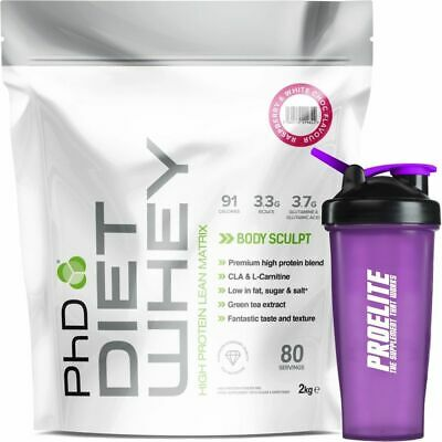 PhD Nutrition Diet Whey Protein 2Kg Weight Fat Loss + Shaker Meal Replacement