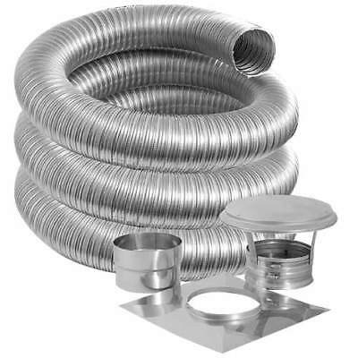 "4"" x 35' SIMPSON DURAVENT STAINLESS CHIMNEY LINER KIT"