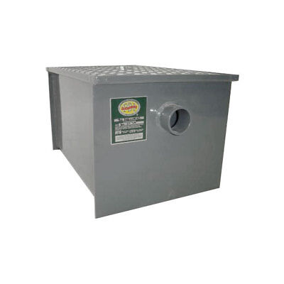 Commerical Grade Kitchen Carbon Steel Grease Trap 40 lb - Restaurant Equipment
