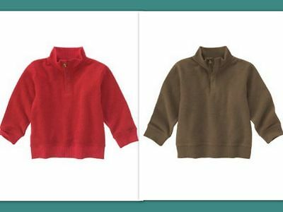 NWT Gymboree Boys sz 3-4 HOLIDAY EXPRESS Red Brown Fleece Pullover Sweater