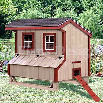 5 39 X6 39 Gable Chicken Hen House Coop Plans 90506mg