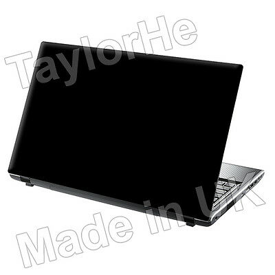 "17"" Laptop Skin Cover Sticker Decal Plain Black 274"
