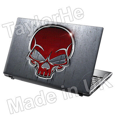 """17"""" Laptop Skin Cover Sticker Decal Red skull 119"""