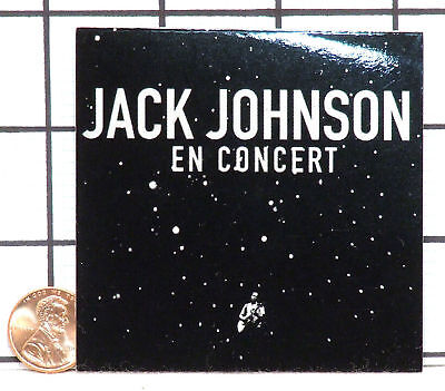 Brand New Jack Johnson In En Concert Rare Sticker Decal