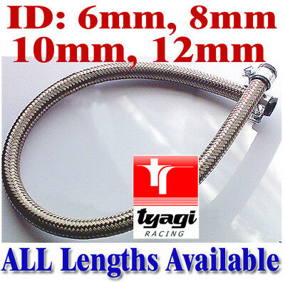 Stainless Steel Braided Nitrile Rubber Fuel Hose Line Diesel Petrol Hose Car Van