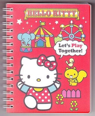 Hello Kitty Red Merry go round wire-o Notebook