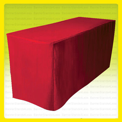5' Fitted Tablecloth Wedding Banquet Event Table Cover - RED