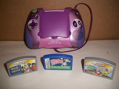 Leap Frog Leapster Handheld L-Max Learning Game System 3 Free Games Educational
