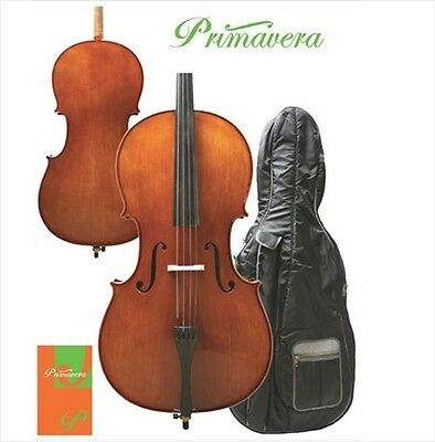 Primavera Prima 200 Eastman Cello Outfit 4/4 Size With Bow + Case **NEW**