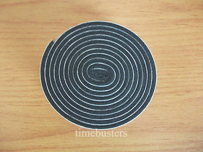1m Black Single Sided Foam Tape Closed Cell 10mm Wide x 3mm Thick