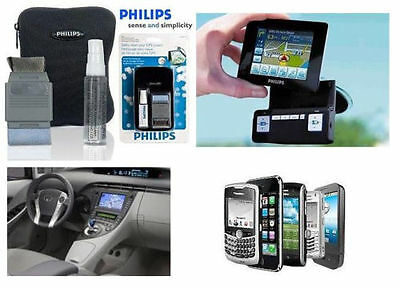 Philips GPS Phone Radio Screen Cleaning Kit + Storage Case Safety Clean Mobile