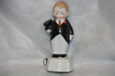 ANTIQUE~CHERUB GROOM TAPE MEASURE~,FIGURAL,porcelain