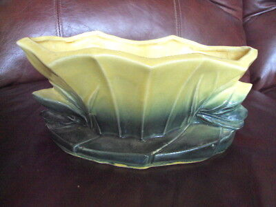 VINTAGE McCOY LOTUS FORM PLANTER VERY HARD TO FIND !
