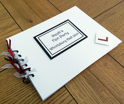 """Hen Party L Plate 8""""x6"""" A5 Guest Book Photo Album Memory Scrapbook Personalised"""