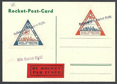 USA 1936 special ROCKET MAILcard