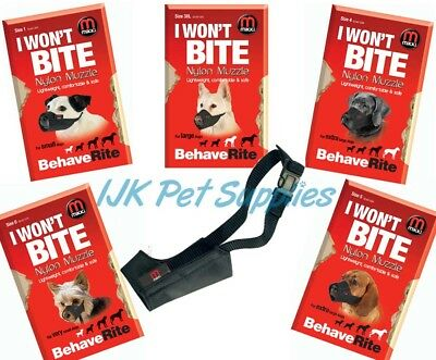 Mikki Training Soft Nylon Dog Muzzle All Sizes