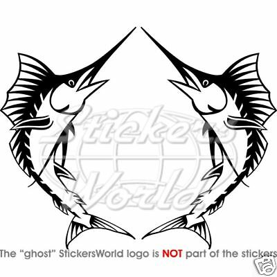 "SWORDFISH Marlin Fish Vinyl Stickers Decals 140mm (5,6"") x2 ANY COLOR"