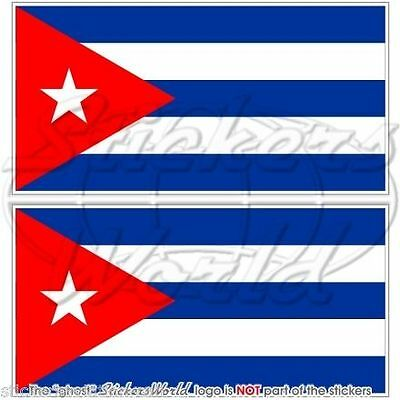 3 SIZES . SET OF 7 COUNTRY FLAG VINYL CAR STICKERS CUBA NEW