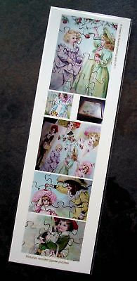 New bookmark w images of Vict wooden jigsaw puzzles