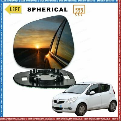 Left Passenger side Convex Wing mirror glass for Vauxhall Agila 2007-15 Heated