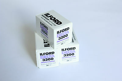 Ilford Delta 3200 35mm Film 36 exp (3 Pack)